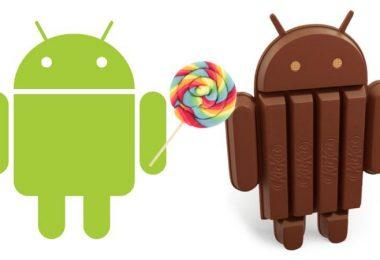 Lollipop vs Kitkat