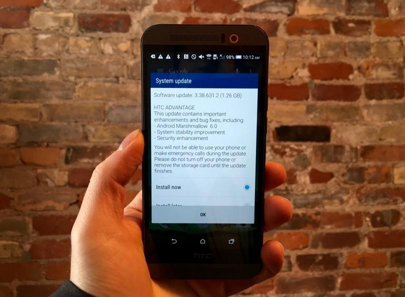 hard reset HTC One M9